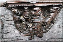 TF3244 : Misericord, St Botolph's church, Boston by Julian P Guffogg