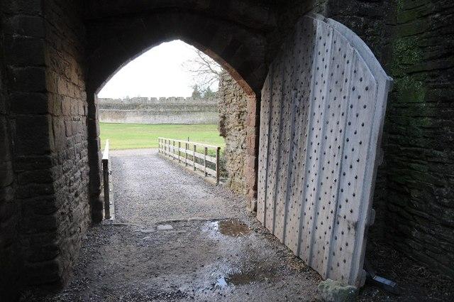 Arch entrance in Ludlow Castle