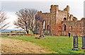 NU1241 : Lindisfarne Priory ruins, 1989 by Ben Brooksbank