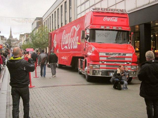 Coca-Cola Christmas Truck in Torquay