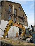 TQ7868 : Digger on standby, Medway House by David Anstiss