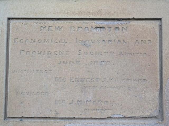 Dedication Plaque 1, Medway House