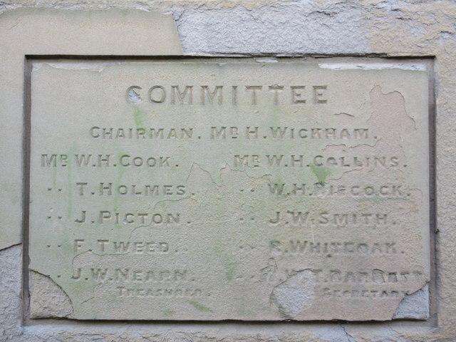 Dedication Plaque 2, Medway House