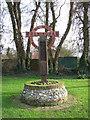 TM1598 : Wreningham village sign by Evelyn Simak