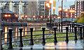 J3473 : Twilight on the Lagan Walkway, Belfast (December 2014) by Albert Bridge