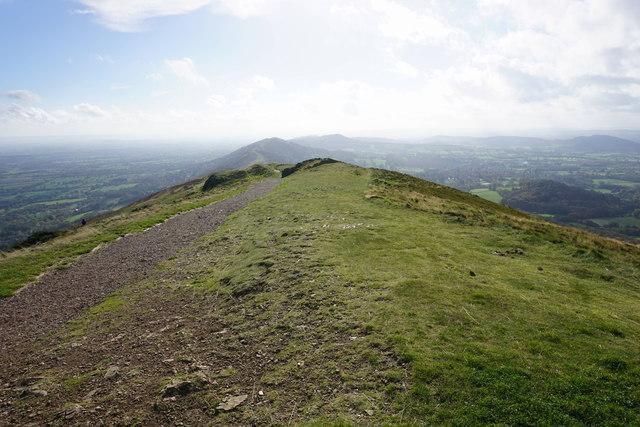 The summit ridge of Worcestershire Beacon