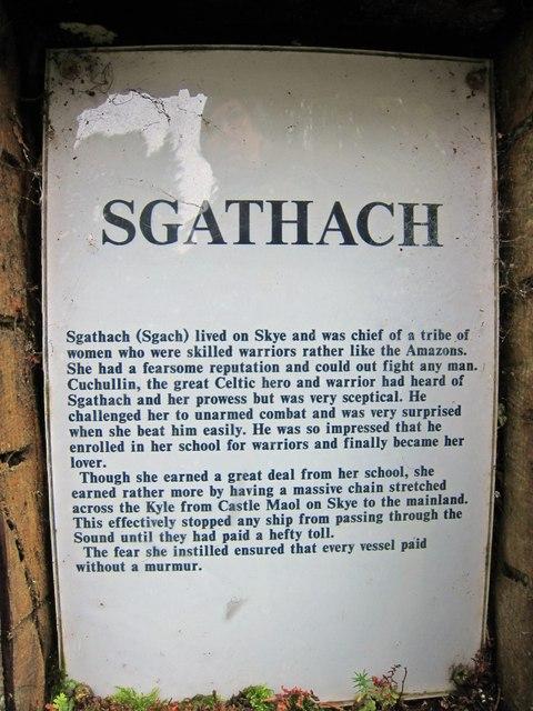 Sgathach - information plaque