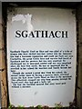 NH4858 : Sgathach - information plaque by Richard Dorrell
