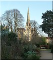 SU8504 : Bishop's Palace Gardens view to cathedral by Rob Farrow