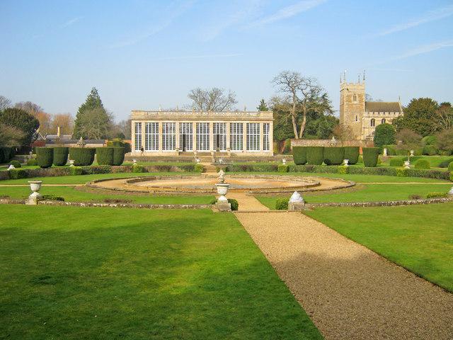 The Italian Garden at Belton House