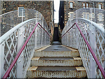 NT4836 : A footbridge over the Borders Railway Line in Galashiels by Walter Baxter