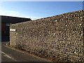 TV4898 : Flint wall, Crouch Lane, Seaford by Robin Stott