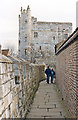 SE6052 : York, 1989: along City Walls to Bootham Bar by Ben Brooksbank