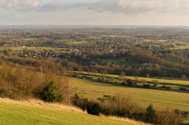 Southeast from Box Hill