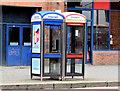 J3373 : Telephone boxes, Dublin Road, Belfast (December 2014) by Albert Bridge