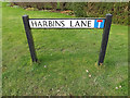 TL2356 : Harbins Lane sign by Adrian Cable