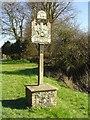 TM0567 : Bacton (Suffolk) village sign by Adrian S Pye