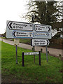TL2256 : Roadsigns on the B1046 High Street by Adrian Cable