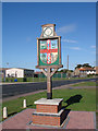 TL6977 : Beck Row village sign by Adrian S Pye