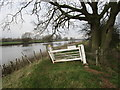 SK8273 : Clapper gate by the Trent by Jonathan Thacker