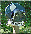 TG4901 : Browston village sign (detail) by Adrian S Pye