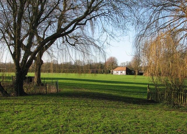 Elmdon Cricket Ground on Christmas morning