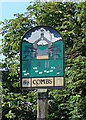 TM0356 : Combs village sign (detail) by Adrian S Pye