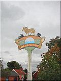 TM1763 : Debenham village sign by Adrian S Pye