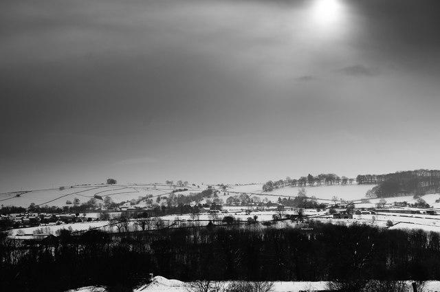 Winter sun, Bakewell