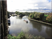 SK7953 : Newark on Trent - The R Trent below Newark Castle & view towards Town Lock by Colin Park