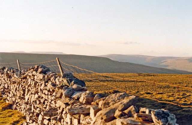 Desolate moorland scene on Oughtershaw Side, south of Hawes, 1989