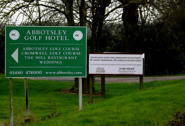 Abbotsley Golf Club sign