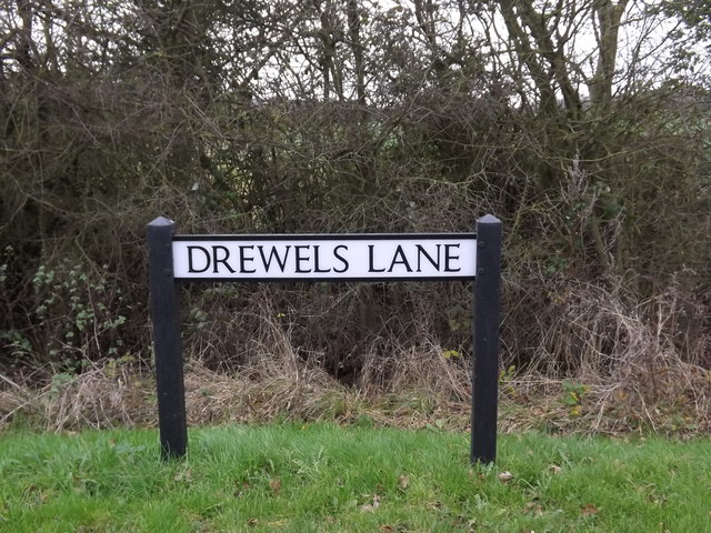 Drewels Lane sign