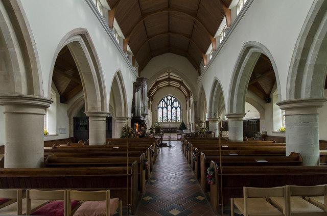 Interior, St Martin's church, Brasted