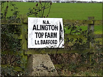 TL2055 : Top Farm sign by Adrian Cable