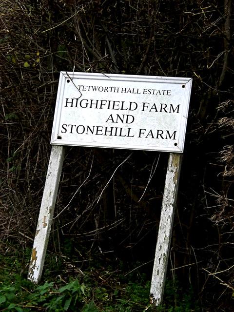 Highfield Farm sign