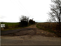 TL2055 : Entrance to Top Farm by Adrian Cable