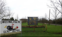 TL2155 : Southwood Farm sign & Advertisement by Adrian Cable