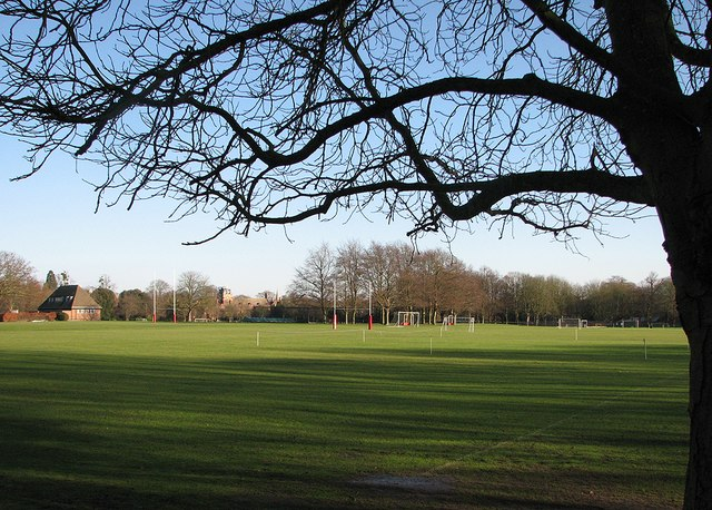St John's College Sports Ground in winter