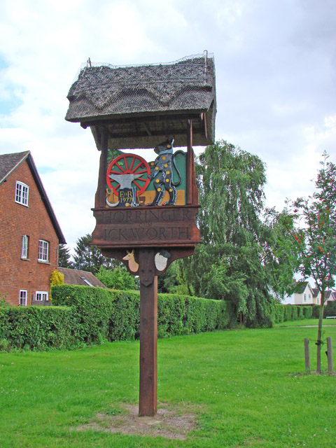 Horringer village sign by Adrian S Pye
