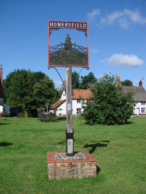 Homersfield village sign