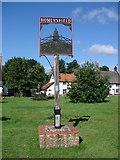 TM2885 : Homersfield village sign by Adrian S Pye