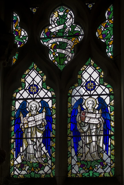 Stained glass window, St Martin's church, Brasted