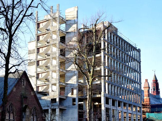 Former library, Queen's University, Belfast (December 2014)