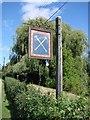 TL9650 : Kettlebaston village sign by Adrian S Pye