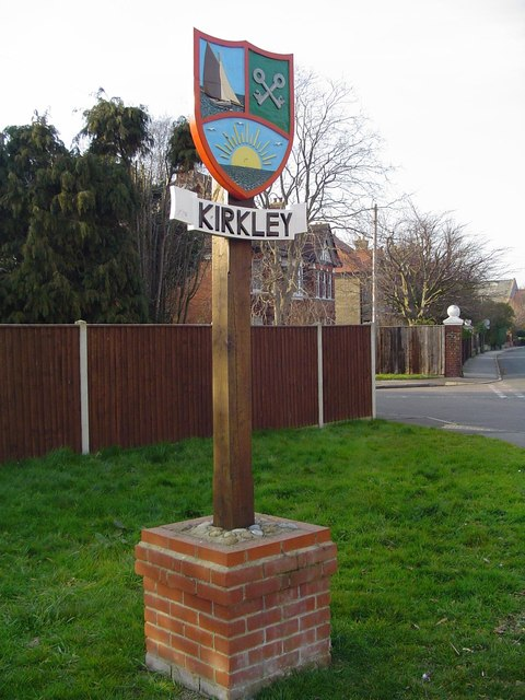 Kirkley village sign by Adrian S Pye