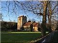 SU7791 : St Bartholomew's church Fingest in Buckinghamshire by David G Croft