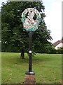 TL7459 : Ousden village sign by Adrian S Pye