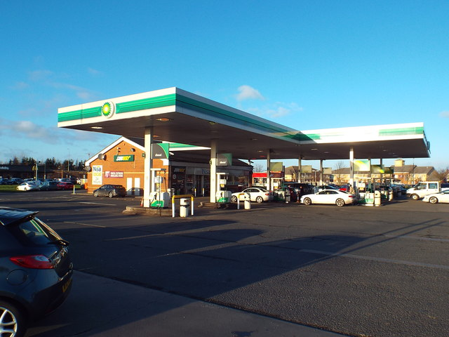 Petrol station at Wolviston, near Stockton-on-Tees