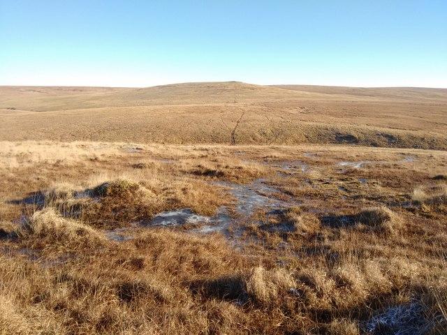 Frozen bog above Amicombe Head